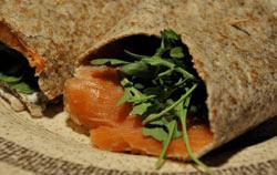 Smoked Salmon Wrap